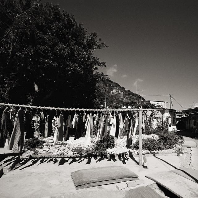 """""""Natural laundry in Hong Kong"""" stock image"""
