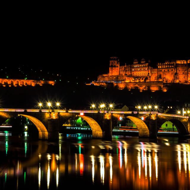 """Heidelberg bridge"" stock image"