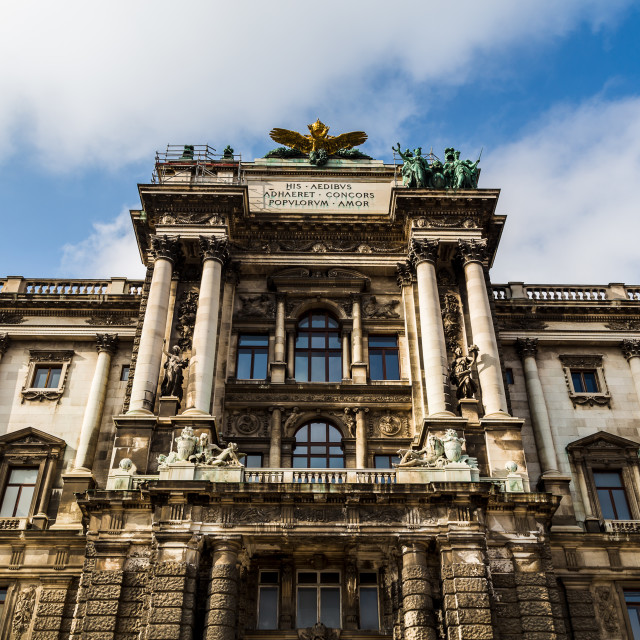 """Rear of the Hofburg Palace"" stock image"