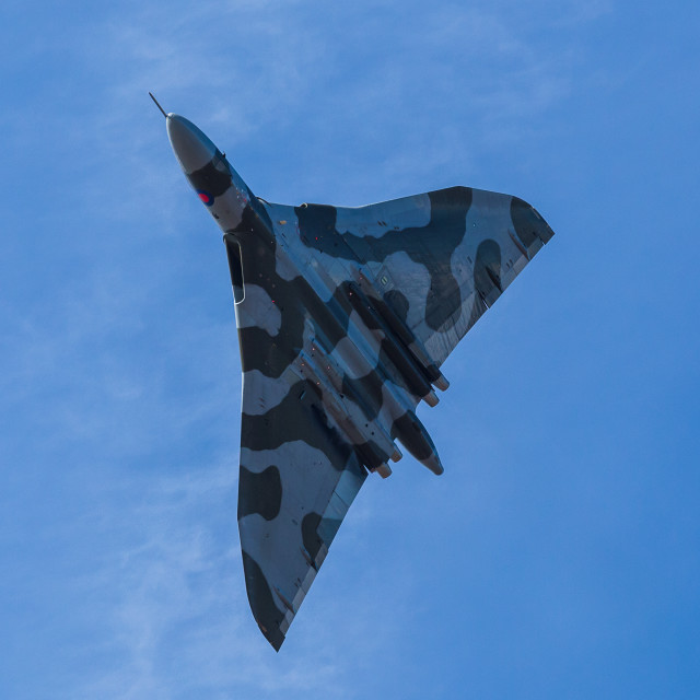 """Belly of Vulcan XH558"" stock image"