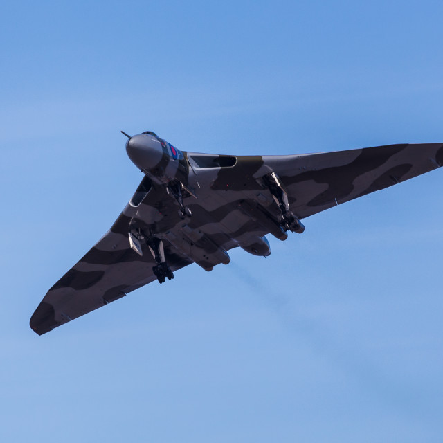 """Dirty pass by Vulcan XH558"" stock image"