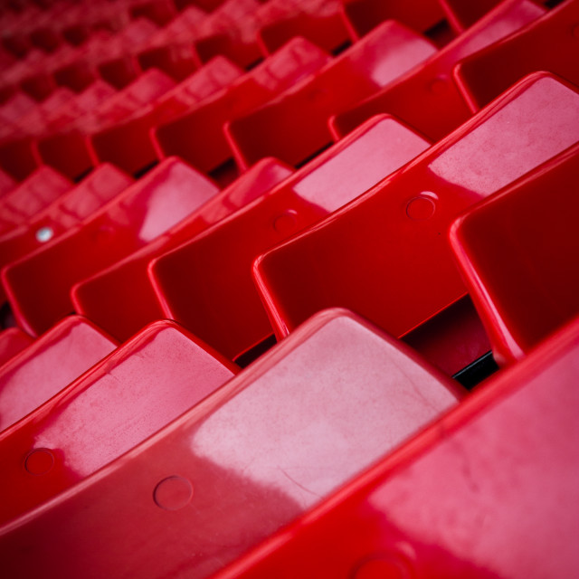 """""""Seating in """"The Kop"""" at Anfield, Liverpool."""" stock image"""