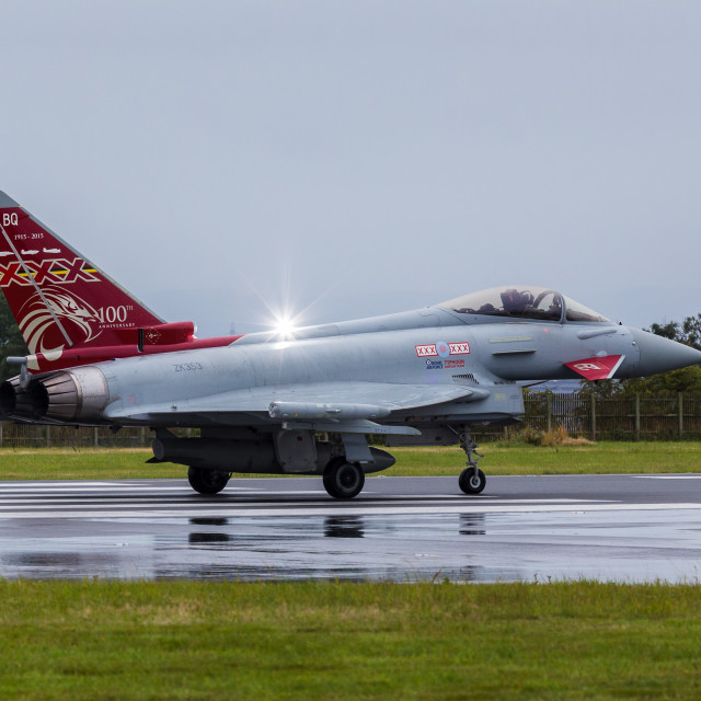 """Strobe on the RAF typhoon"" stock image"