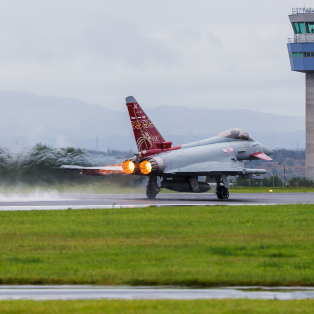 """""""RAF Typhoon launching"""" stock image"""