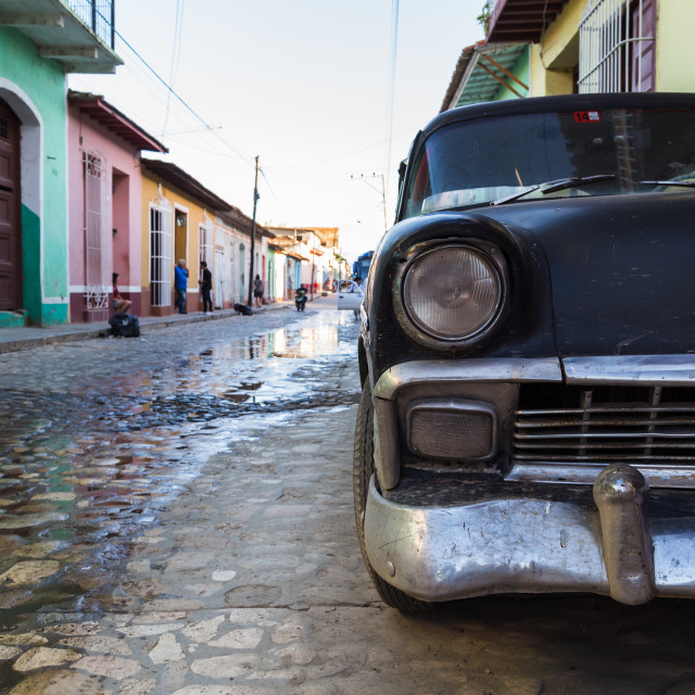 """Old car in Trinidad"" stock image"