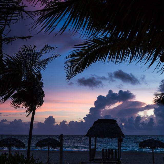 """Dawn at Cayo Coco"" stock image"