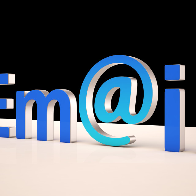 """""""E-mail Letters Shows Correspondence on Web"""" stock image"""