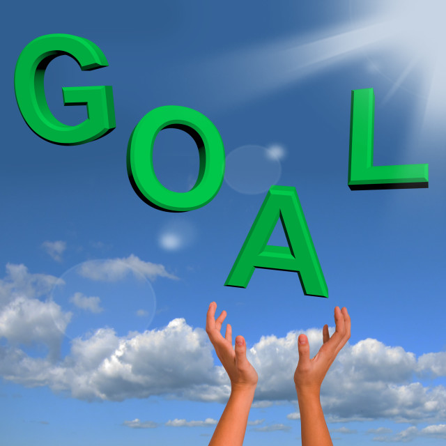 """""""Goals Letters Falling Showing Objectives Hope And Future"""" stock image"""