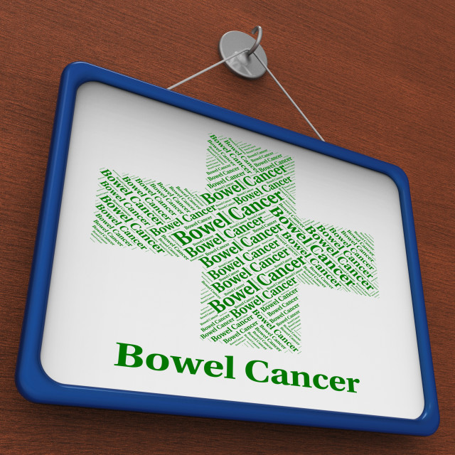 """""""Bowel Cancer Represents Ill Health And Afflictions"""" stock image"""