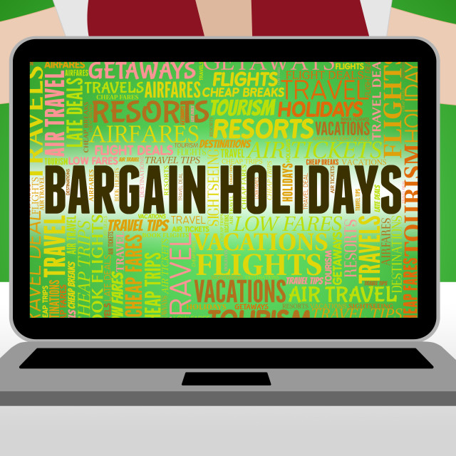 """""""Bargain Holidays Represents Clearance Vacational And Bargains"""" stock image"""