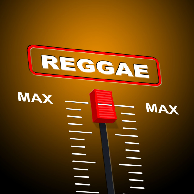 """Reggae Music Indicates Acoustic Recording And Melody"" stock image"