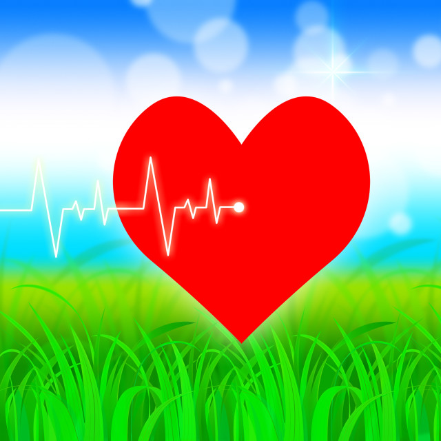 """Heart Pulse Represents Valentine Day And Cardiology"" stock image"