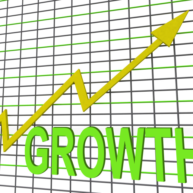 """Growth Graph Chart Shows Increase Sales Profit"" stock image"