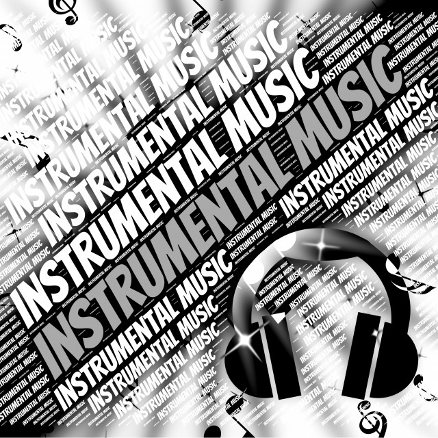 """Instrumental Music Means Sound Track And Harmonies"" stock image"