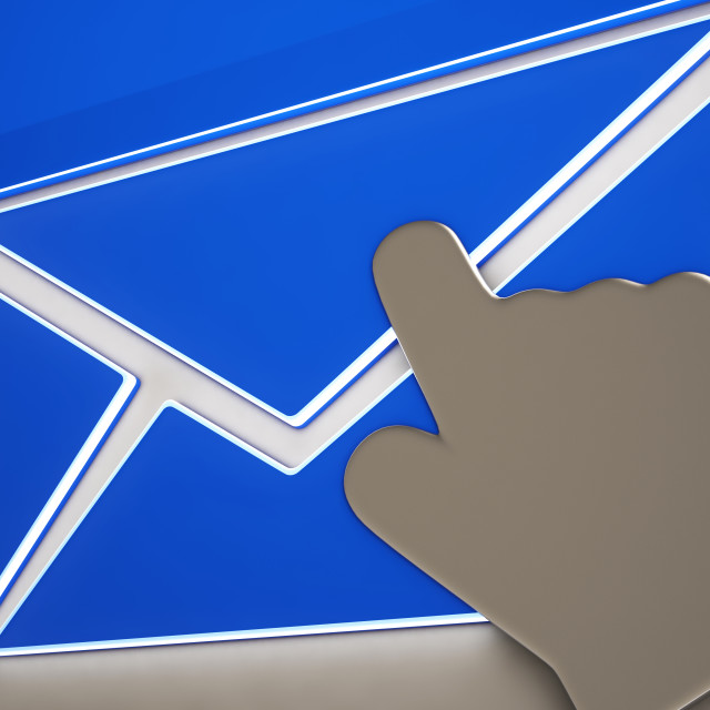 """Envelope Button Showing Online Correspondence"" stock image"