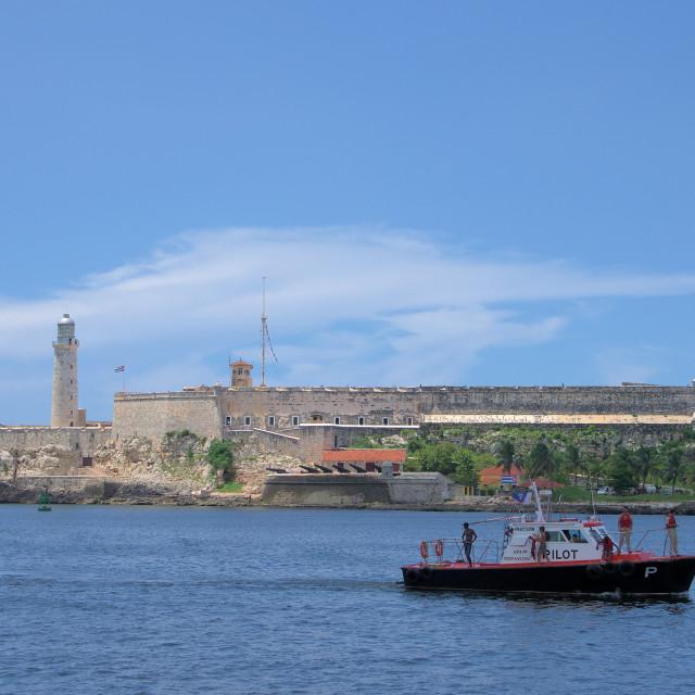 """The Havana harbour"" stock image"