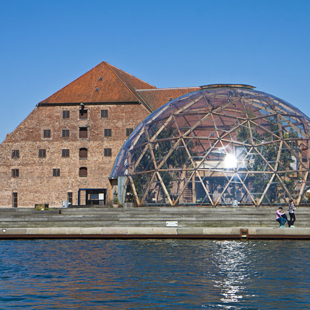 """""""Copenhagen, Denmark - The Dome of Visions and the Royal Brewhouse now art museum"""" stock image"""