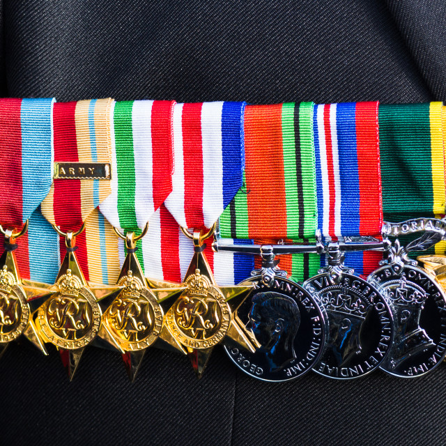 """""""Lovely row of medals"""" stock image"""