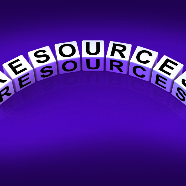 """""""Resources Blocks Mean Collateral Assets and Savings"""" stock image"""
