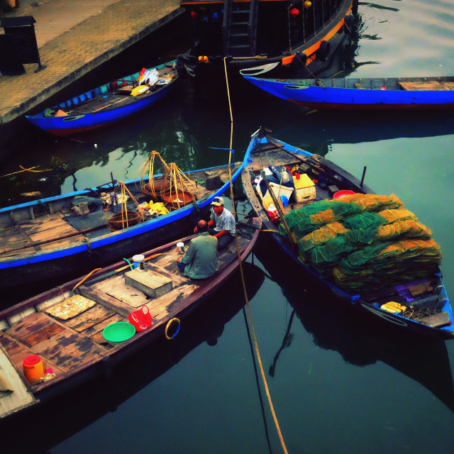 """Early morning in Hoi An"" stock image"