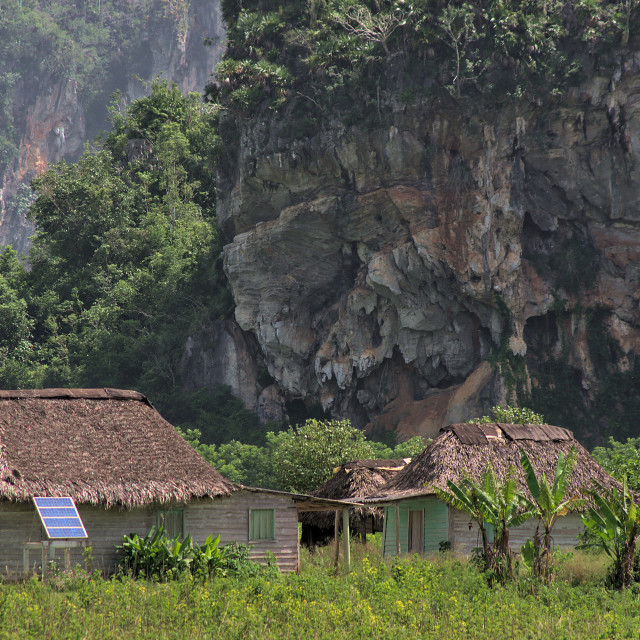 """""""House in the Viñales valley"""" stock image"""