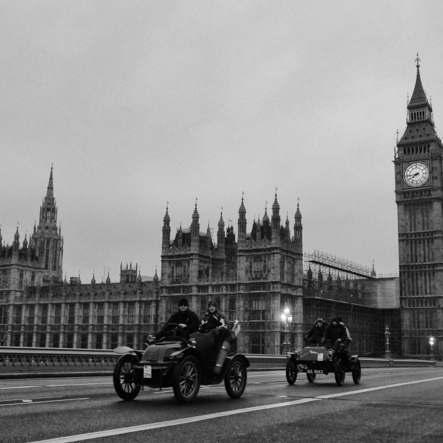 """London to Brighton Veteran Car Run"" stock image"
