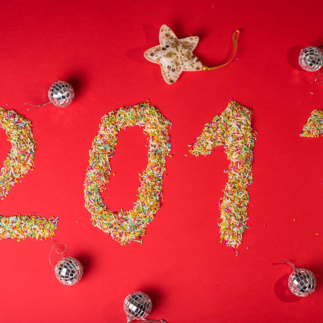 """""""happy 2017"""" stock image"""