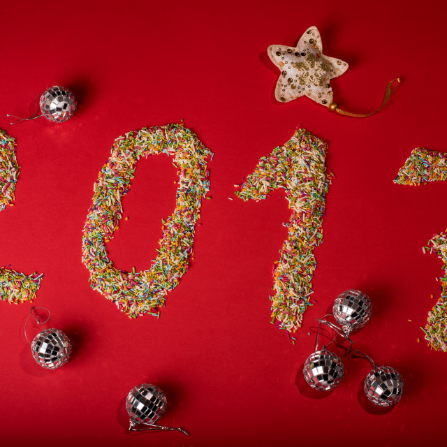 """""""2017 made out of sweets"""" stock image"""