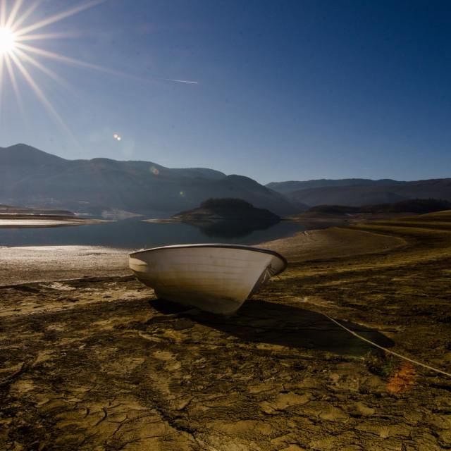 """""""stranded boat"""" stock image"""
