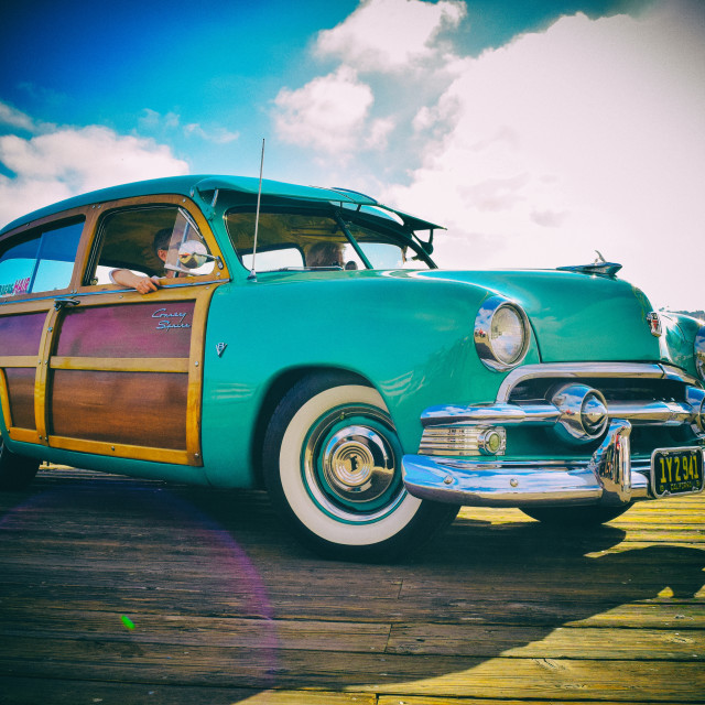 """1951 Ford Country Squire"" stock image"