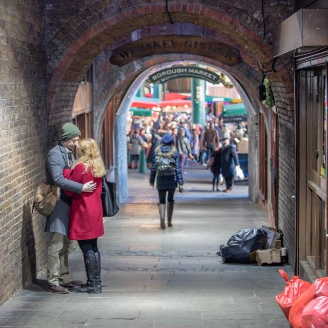 """Borough Market Romance"" stock image"