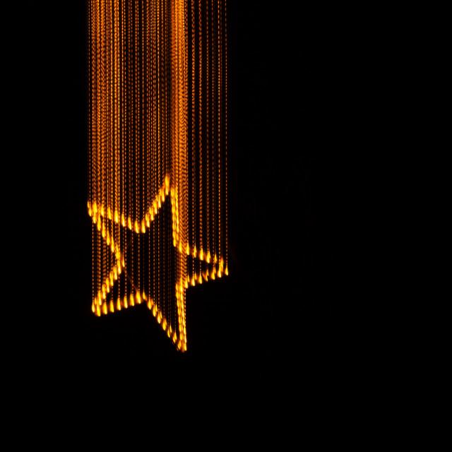 """Falling star, light painting"" stock image"