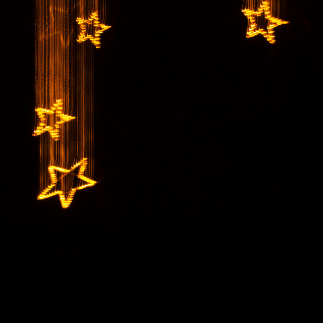 """Falling stars, light painting"" stock image"