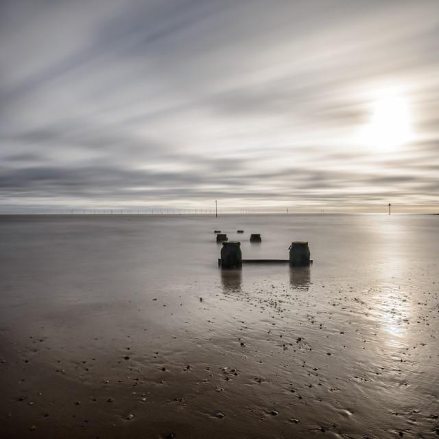 """Minimal Clacton Beach"" stock image"