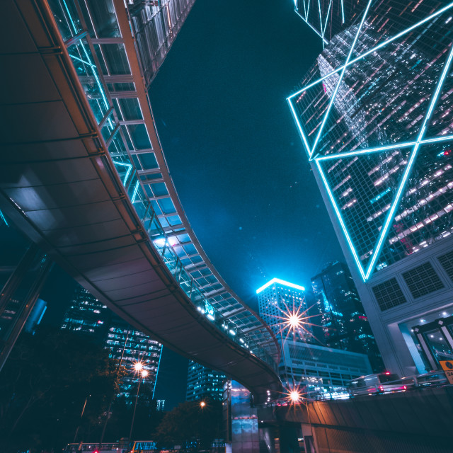 """Hong Kong City Lights"" stock image"