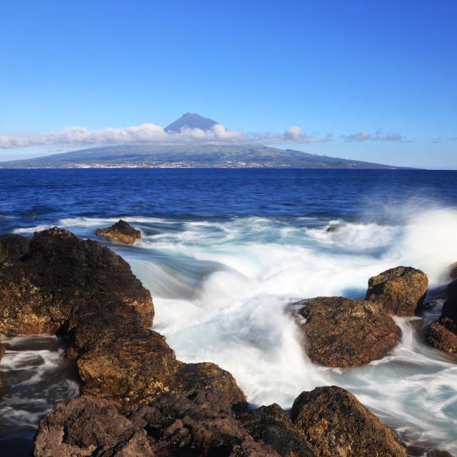 """Volcano of Pico"" stock image"