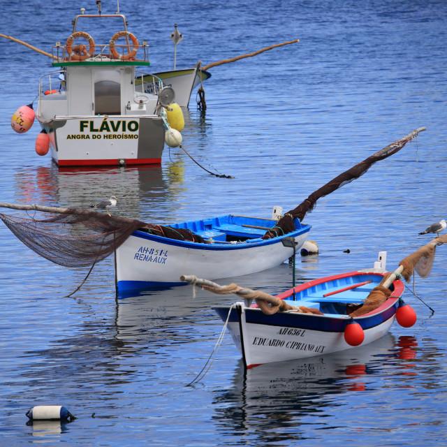 """Fishermen boats"" stock image"