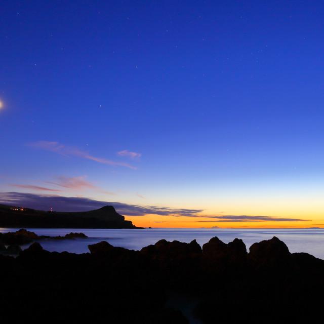 """""""Sunset at Biscoitos Faial"""" stock image"""