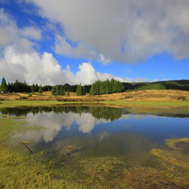 """Terceira - Lago Nigro"" stock image"