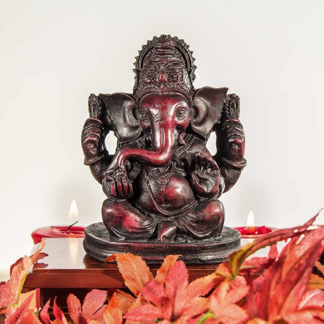 """Ganesha with candles"" stock image"