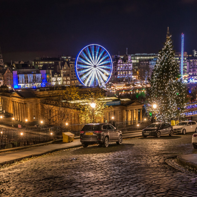 """Edinburgh Christmas Lights"" stock image"