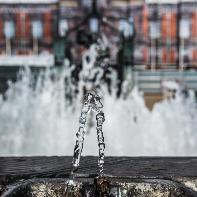 """""""Water drinking fountain"""" stock image"""