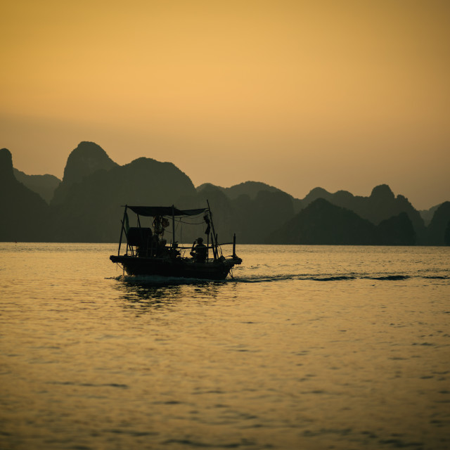"""Ha Long Sunset"" stock image"
