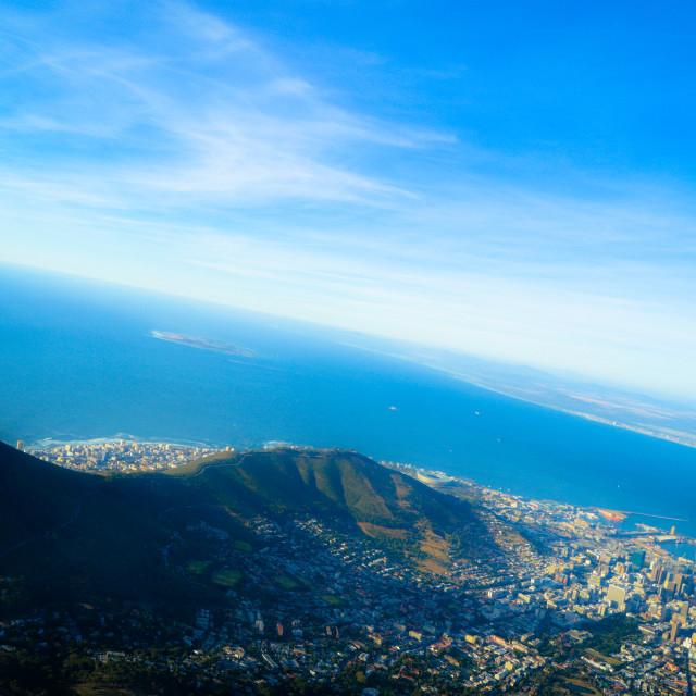 """""""Table Mountain Cape Town South Africa"""" stock image"""