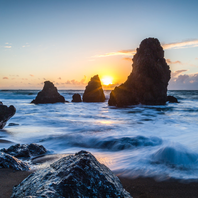 """""""A view from Rodeo Beach"""" stock image"""