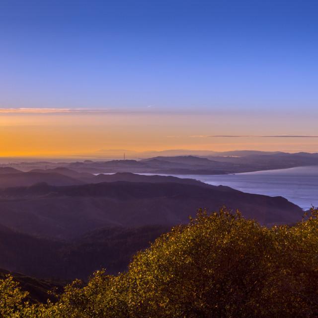 """Sunrise at Mt. Tamalpais"" stock image"
