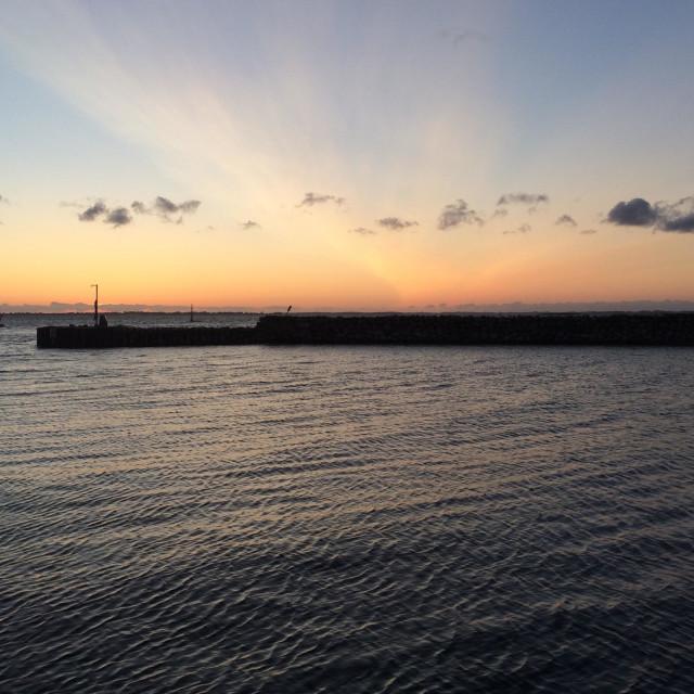"""Sunrise over the Baltic Sea"" stock image"