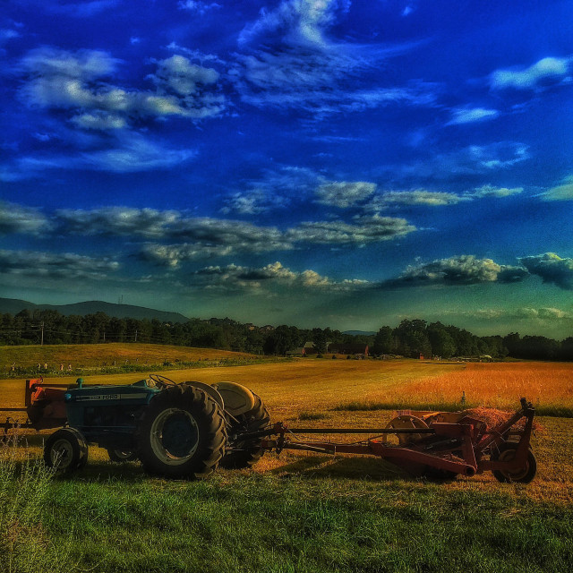 """Equipment on the farm"" stock image"