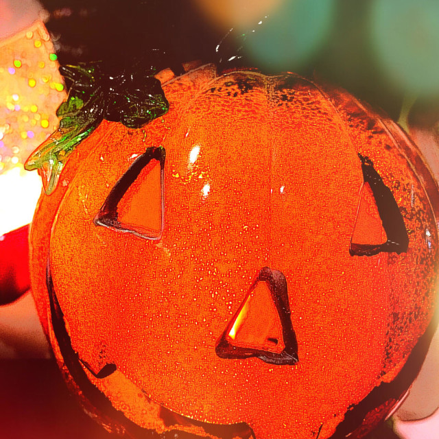 """Halloween jack-o'-lantern"" stock image"