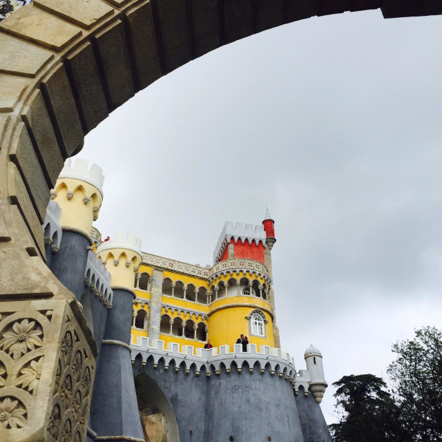 """Pena Palace in Sintra Portugal"" stock image"
